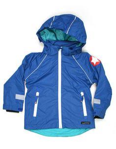 Cobaltblue waterproof summer jacket - Villervalla
