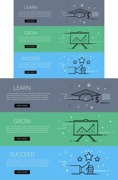 Learn. Grow. Succeed. Web banners