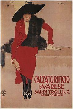 SARDI TROLLI SHOE FACTORY vintage ad poster G MATALONI italy 1897 24X36 hot