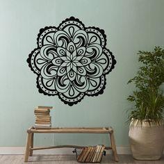 Mandala Vinyl Wall Decal Sticker- Mandala Wall Art- Yoga Studio Decor Bohemian Boho Bedroom Tribal W