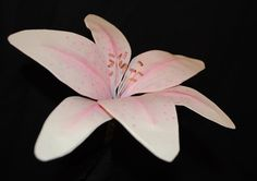Paper Lily Stem Paper Flowers White Lilies by RubyandCosette