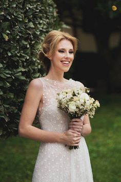 See more http://www.love4wed.com/pretty-sweet-country-style-bridal-style-shoot/ - Love the dots on the dress