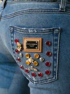 Dolce & Gabbana Calça jeans com aplicações