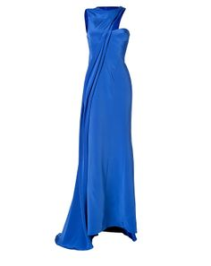 J. Mendel silk cady asymmetrical gown