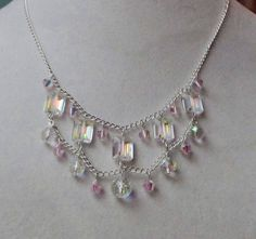 Glistening Bridal DIY Necklace | Beautiful crystals are exactly what a girl wants on her wedding day, and with this beautiful bridal necklace she can get it!