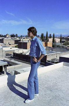 Yves Saint Laurent in Morocco in March 1972.