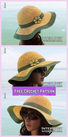 Crochet Summer Sun Protective Hat Free Crochet Pattern with Video