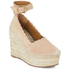 Chloé Lauren Espadrille Wedge Sandals (18.820 RUB) ❤ liked on Polyvore featuring shoes, sandals, platform sandals, wedge sandals, leather sandals, leather shoes and espadrille sandals