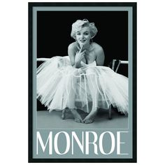 Marilyn Monroe Ballerina Framed Wall Art ($185) ❤ liked on Polyvore featuring home, home decor, wall art, black, black framed wall art, ballerina wall art, ballet wall art, black home decor and marilyn monroe wall art