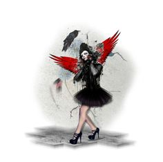 """The Raven Fairy"" by chileez on Polyvore featuring art"