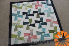 Piece N Quilt: Mini Quilts - bisected square pin wheel - I always like more negative space (aka white) in a quilt...