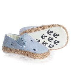 Blue Espadrille Pre-Walker Shoes