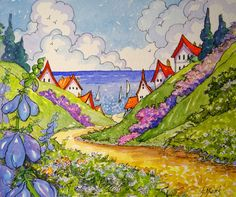 Alida Akers - from her Storybook Cottage watercolor series.
