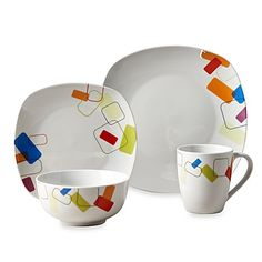 59.99-Tabletops Unlimited® Soho Square Porcelain 16-Piece Set