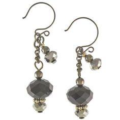 Black Bling Dangle Earrings