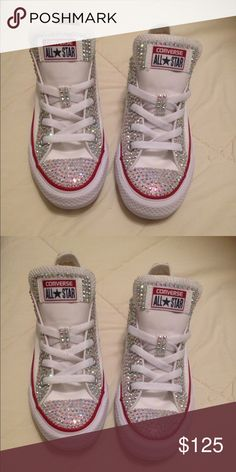 96c6a4c3420 Bling converse NWT. Bedazzled ShoesRhinestone ...