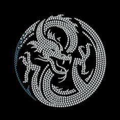 Dragon Hotfix Rhinestone Transfers Motif