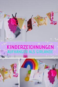 #kinderzeichnungen #kunst #girlande #wandgestaltung #diy
