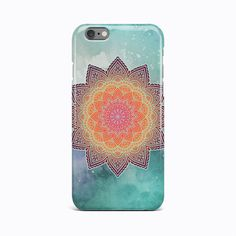 Green Mandala Flower Hard Case Cover Apple iPhone 4 4S 5 5S 5c SE 6 6S 7 Plus #Apple