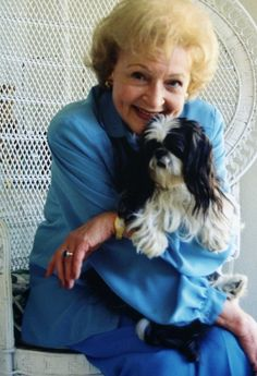 another reason to love Betty White, she has an adorable Shih Tzu! She is an animal lover and protects and saves as many as she possible can!