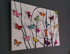 Vlinders op takken!