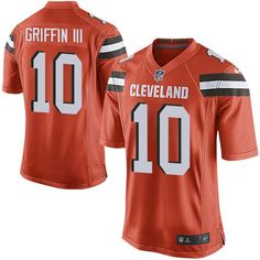Nike Browns #10 Robert Griffin III Orange Alternate Youth Stitched NFL New jersey