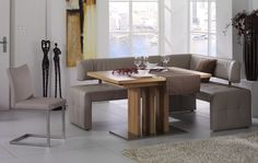 A dining area? A lounge area? Why.. it's both! The Himolla Dinnerpoly range provides versatility so you can enjoy both.  Model: 9115