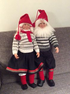 Handmade by Gerd Asphaug, Norway Christmas Gnome, Gnomes, Elf On The Shelf, Norway, Winter Hats, Holiday Decor, Handmade, Fashion, Hand Made