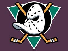 Anaheim Mighty Ducks Primary Logo - National Hockey League (NHL) - Chris Creamer's Sports Logos Page - SportsLogos. Hockey Logos, Nhl Logos, Sports Team Logos, Hockey Teams, Ice Hockey, Sports Teams, Hockey Stuff, Nhl Jerseys, Anaheim Ducks