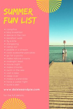 Ultimate summer bucket list, summer fun ideas, summer activities for kids, no cost summer fun activities