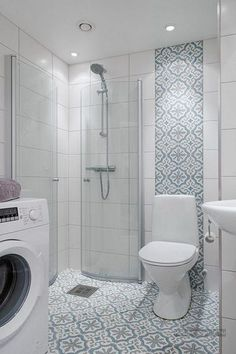 Is your home in need of a bathroom remodel? Give your bathroom design a boost with a little planning and our inspirational Most Popular Small Bathroom Remodel Ideas in 2018 Laundry In Bathroom, Bathroom Wall, Bathroom Ideas, Small Bathroom Showers, Stone Bathroom, Small Bathrooms, Bathroom Subway Tiles, Master Bathroom, Small Shower Room