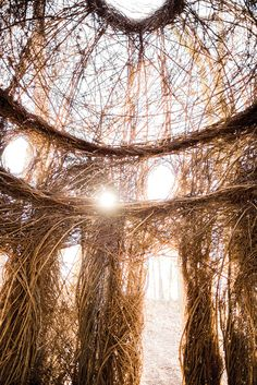 Whimsical Wood Work by Patrick Dougherty | Our State Magazine | Intriguingly, and regardless of the fact that many of Patrick's sculptures have an architectural sensibility, none have sharp corners.
