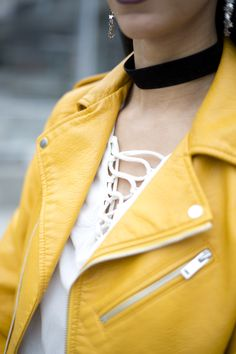 The IT jacket??  Read more at: http://www.playingwithapparel.com  #zara #yellow #leather #jacket #spring