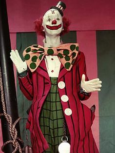 Jimmy Stewart in costume for Buttons the clown for the movie GREATEST SHOW ON EARTH