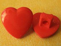 16 Kinderknöpfe rot 11mm (3574-2)Knopf Knöpfe Herz