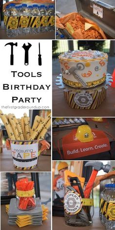 Construction tools 4th birthday party ideas!