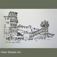 Sketched on location from Cais da Ribeira in Porto Portugal. Way, way back in…