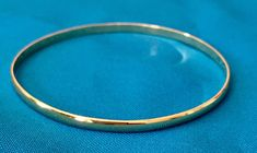 Items similar to Solid Gold Bangle Bracelet - Gold Mexican Jewelry - Thin Solid Gold Half Round Bangle Bracelet on Etsy 14k Gold Bangle Bracelet, Solid Gold Bangle, Solid Gold Jewelry, Name Bracelet, Gold Bracelets, Mexican Jewelry, Gold Tips, Silver Bangles, Heart Earrings