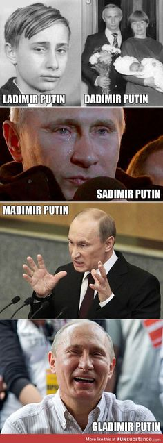 Different versions of putin