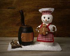Dame de bonhomme de neige avec homme de pain d'épice par DinkyWorld