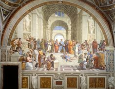 2. School of Athens, c. 1510  By: Raphael  The School of Athens (or Scuola di Atene in Italian) was one of Raphael's commissions in the Stanze di Raffaello in the Vatican. The School of Athens is considered Raphael's master artwork and is considered the perfect example of High Renaissance art. (Italian Renaissance Paintings)