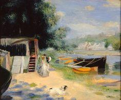 Pierre-Auguste Renoir - View of Bougival, 1873.