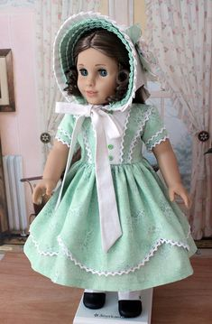 1850s Dress and Bonnet for Marie Grace or Cecile by BabiesArtUs, $89.00