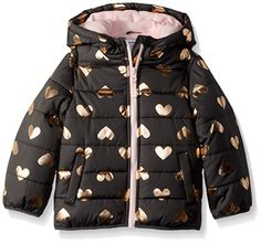 f9ac4c4cad3 Amazon.com  Carter s Girls  Fleece Lined Puffer Jacket Coat  Clothing  Carters Baby