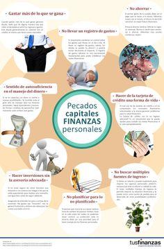 Si cumples con 3 de los pecados capitales más comunes en finanzas personales. Ponle Atención! Más información en http://www.tusfinanzas.ec/