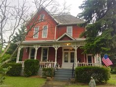 This Victorian was built in 1865. It was a home to one of the Hale daughters of Hale Farm and Village. Her husband was a jeweler in town and they built this phenomenal house. The 10 foot ceilings a…