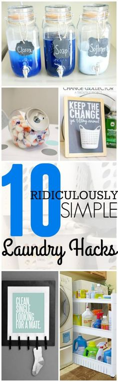 I LOVE these 10 Laundry Hacks! They are super simple and clever! Don't wash another load of clothes without looking at these hacks first!