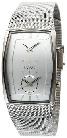 Skagen Men's 281LSS Dual-Time Mesh Watch Skagen. $81.04. Stainless-steel case; Brushed chrome dial. Water-resistant to 330 feet (100 M). Case diameter: 30 mm. Mineral crystal. Quality Japanese-Quartz movement. Save 44% Off!