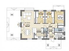 Hawana - Dobre Domy Flak & Abramowicz Beautiful House Plans, Beautiful Homes, Cabana, New House Plans, Modern House Design, Smart Home, Bungalow, New Homes, Floor Plans
