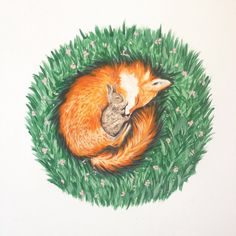 This fox print is too cute! Perfect for a nursery. Couldnt help but smile while I painted this. A print would be lovely for your nursery or a gift for